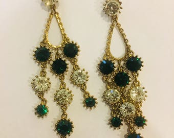 Emerald city chandelier earrings