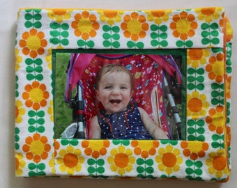 Soft baby photo album // sunflowers // baby gift