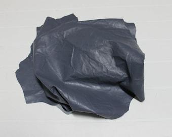 Italian Lambskin Lamb leather skin skins hide hides WRINKLED GREY 4sqf #A2403