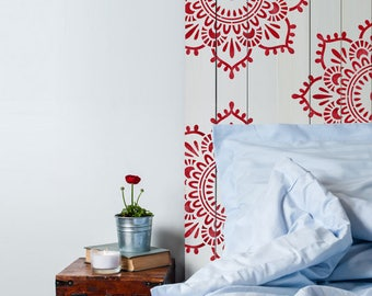 Wonderful Eva Mandala Indian Motif Stencil. Reusable Indian Themed Stencils For Home  Decor, Furniture,