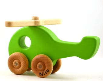 Personalized Helicopter Toy - Wooden Toy - Choose Any Color - Etsy Kids - Christmas Gift