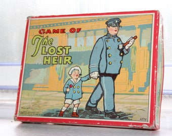 Antique Toy Card Game The Lost Heir Vintage 1920s Milton Bradley