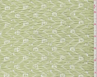 Lime Green Stretch Lace, Fabric By The Yard