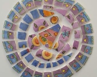 Mosaic Tiles Sue Zipkin Colorful Contemporary 53 pieces