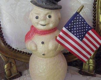 Darling Paper Mache Snowman, Kentucky Tavern