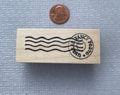 Mail Art Postal Cancellation Rubber Stamp