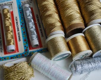 12 Spools of  Metallic Thread