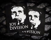 Joy Division Ian Curtis Goth Punk Patch - Black, White (the cure, siouxie, the smiths)