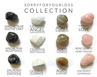 SORRY for YOUR LOSS ---  Rox Box  --- crystal, gemstone sympathy gift
