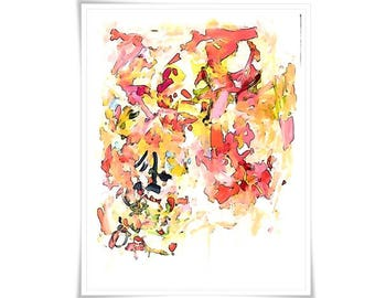 Large Original Abstract Art pretty vancouver artist melissa thorpe canadian office bright colourful colorful pink purple orange painting