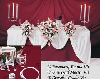 5 BOUQUET DISPLAYS - Wedding Reception Table Decoration Flower Holders. Bouquet Holder Holds Your Bridal Bouquet.