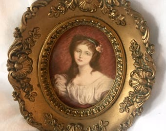 Vintage Cecile Volage Portrait by JB Greuze A Cameo Creation