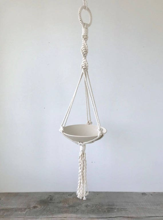 Salma Shallow Bowl Macrame Planter
