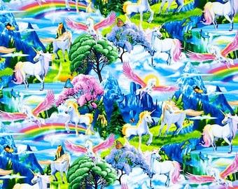 Timeless Treasures - Magical Gardens - Unicorns