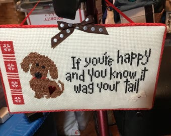 Wag Your Tail...Cross Stitch..Finished