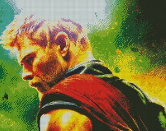 Thor Ragnarok Cross Stitch Pattern