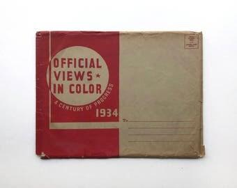 A Century Of PROGRESS Ecposition Chicago World's Fair 1934 W/Orig ENVELOPE