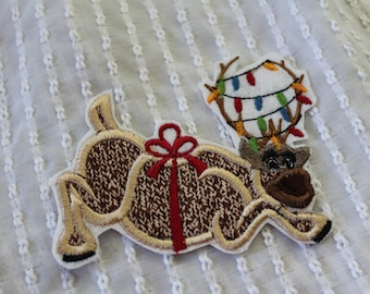 READY TO SHIP Christmas Frozen Sven  Inspired Iron on Appliqué Patch