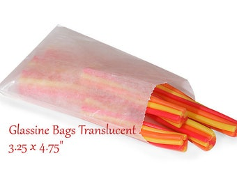 Glassine Bags 100 Flat Treat Glassine Bag - MEDIUM 3.25 x 4.75  Favor Bags