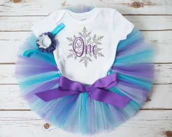 "Winter first birthday outfit girl ""Audrey"" snowflake birthday snowflake first birthday outfit girl winter birthday outfit winter onederland"