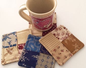 Coaster Set, Mug Rugs, Fabric Coasters, Handmade, 100% Cotton, Windham Fabrics First Ladies Fabrics