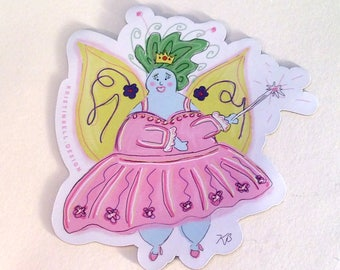 Beautiful Fat Fairy Magnet