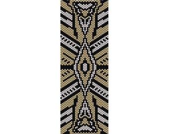 Art Deco 10 Peyote Bead Pattern, Bracelet Cuff Pattern, Bookmark Seed Beading Pattern Miyuki Delica Size 11 Beads - PDF Instant Download