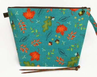 Medium Wide-Mouth Wedge Bag - Autumn Teal