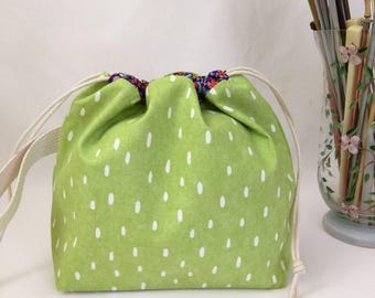 Small Super Draw Project Bag - Dash of Lime