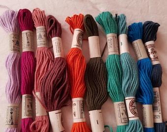 SALE 20  DMC Embroidery floss,skein,needlepoint floss,assorted colors,cotton retors mat 10 mt