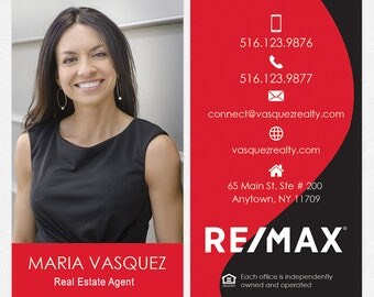 REMAX real estate business cards - thick, color both sides - FREE UPS ground shipping