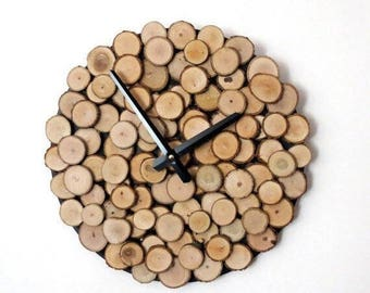 Wood Wall Clock, Unique Wall Clock, Trending, Reclaimed Wood, Decor and  Housewares, Rustic Home Decor,  Home and Living