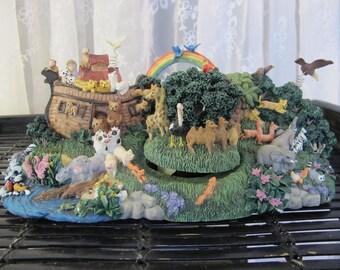 "Vintage 90's Noah's Ark animated and  musical ""Over the Rainbow"" figurine"
