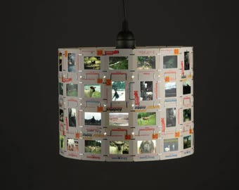 Reserved For Sarah Photographic Slide Pendant Shade, Animal Theme, Cow, sheep, Movie Reel, Home Decor, Upcycled, Repurposed, Film, Designer