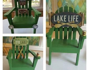 SALE! A variety of Fishing and Lake Life Adirondack Chair Ornaments! Coastal Christmas, Fishing, Nautical, Beach Christmas, Angler Ornament