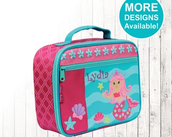 Personalized Mermaid Lunch box, Stephen Joseph Lunch Box, Embroidered Childrens Lunch Box, Monogrammed Lunch box, Mermaid