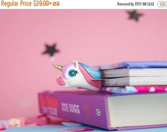 CHRISTMAS IN JULY -20% // Glam Unicorn bookmark // Unicorn from Fairyland unique gift for her // Back to school gift for student, teacher //
