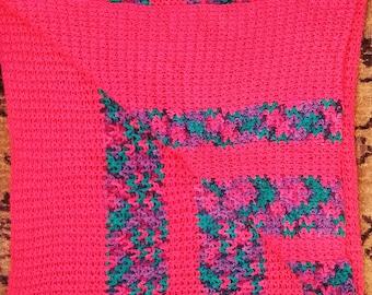 hot pink afghan