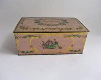 Vintage Candy Tin Louis Sherry Canco Candy Tin New York Paris Collectible Tin Trinket Box
