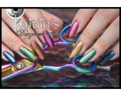 Titanium Ombre Stiletto Gel Artificial Nail Art