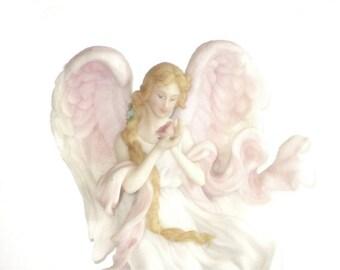 "1997 Seraphim Classics ""Heaven's Rose"" Diana by Roman #78123 Collectible Angel Figurine"