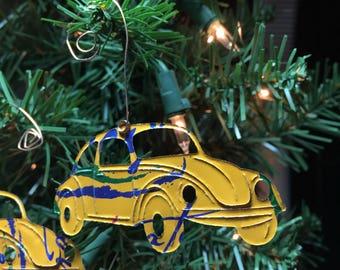 Buggie Car Aluminum Die Cut Ornaments-Embellishment-Scrapbook-Ornament Exchange-Upcyled Soda Can