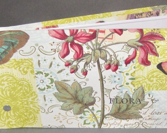 Photo / Guest Book -Flora & fauna paper covers -collage effect