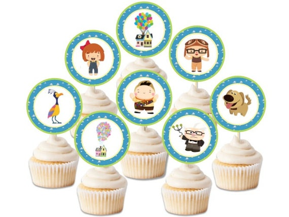 Up inspired toppers, digital download, printable up toppers, disney inspired up toppers