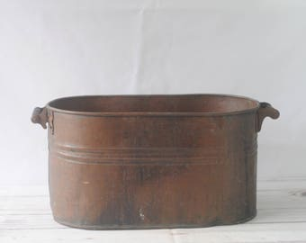 Antique Copper Boiler Copper Tub Copper Wash Tub Copper Still