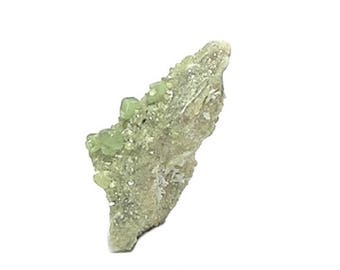 Demantoid Garnet Tiny Green Crystals on Rock Matrix, Gem mined in Veracruz Mexico, Raw Gemstone