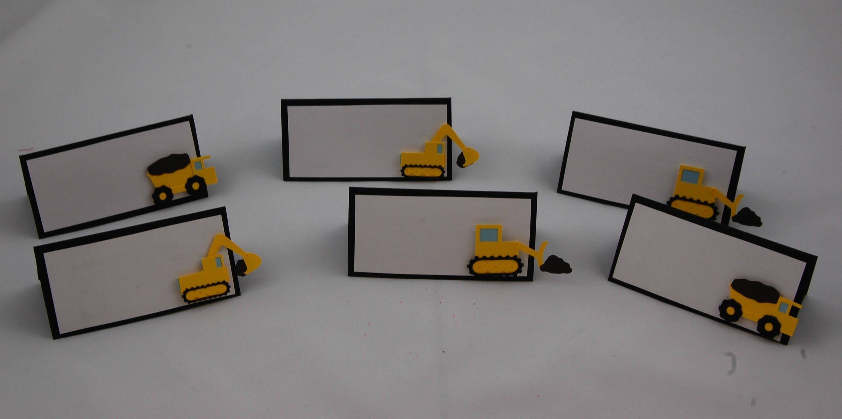 construction themed birthday party name tags dump truck party