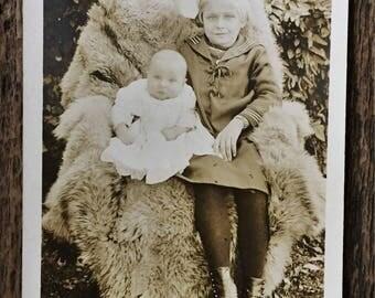 Original Antique RPPC Photograph Annie & Harry