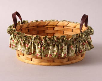 Holly and Holly Berries, Christmas Basket Garters, Small, Medium and Large, Basket Accessories