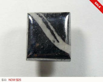 Cobalt Silver Ore Cabochon, 16x18x5.5mm, native silver, designer cabochon, gemstone cabochons, flat back cabochons, natural stone (c32773)